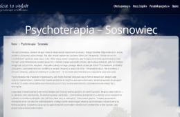 Psycholog, psychoterapia wSosnowcu